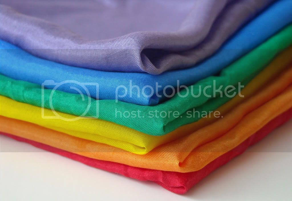:My Favorite Thing:&lt;br&gt;Rainbows!&lt;br&gt;11&quot; Mini Playsilks - Set of 6