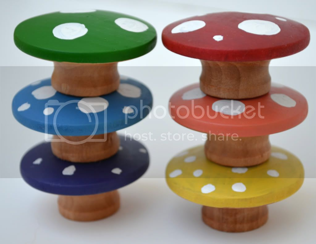 Wooden Mushrooms&lt;br&gt;Montessori Learning Toy&lt;br&gt;Rainbow