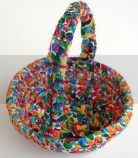 Easter Basket Made From VHC Fabric