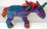 Hand Dyed OBV Plush Unicorn
