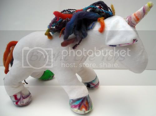 ::Crunchy Congo Critter Month::&lt;br&gt;OBV Plush Unicorn with Hand Dyed Features