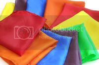 Set of 6 Mini Rainbow Playsilks