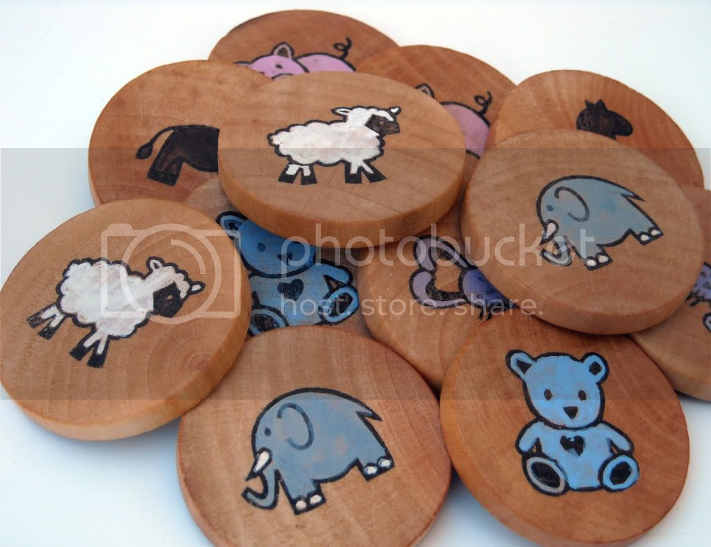 Wooden Memory Game - Animals