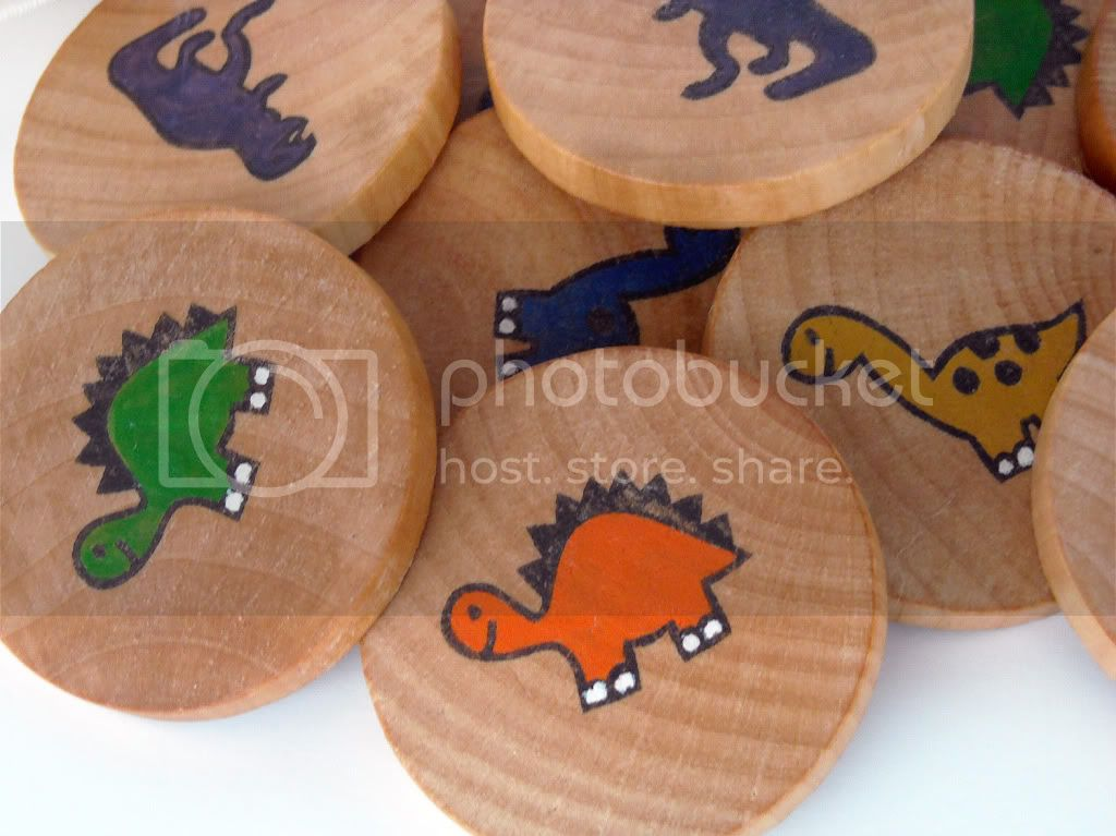 Wooden Memory Game - Dinosaurs