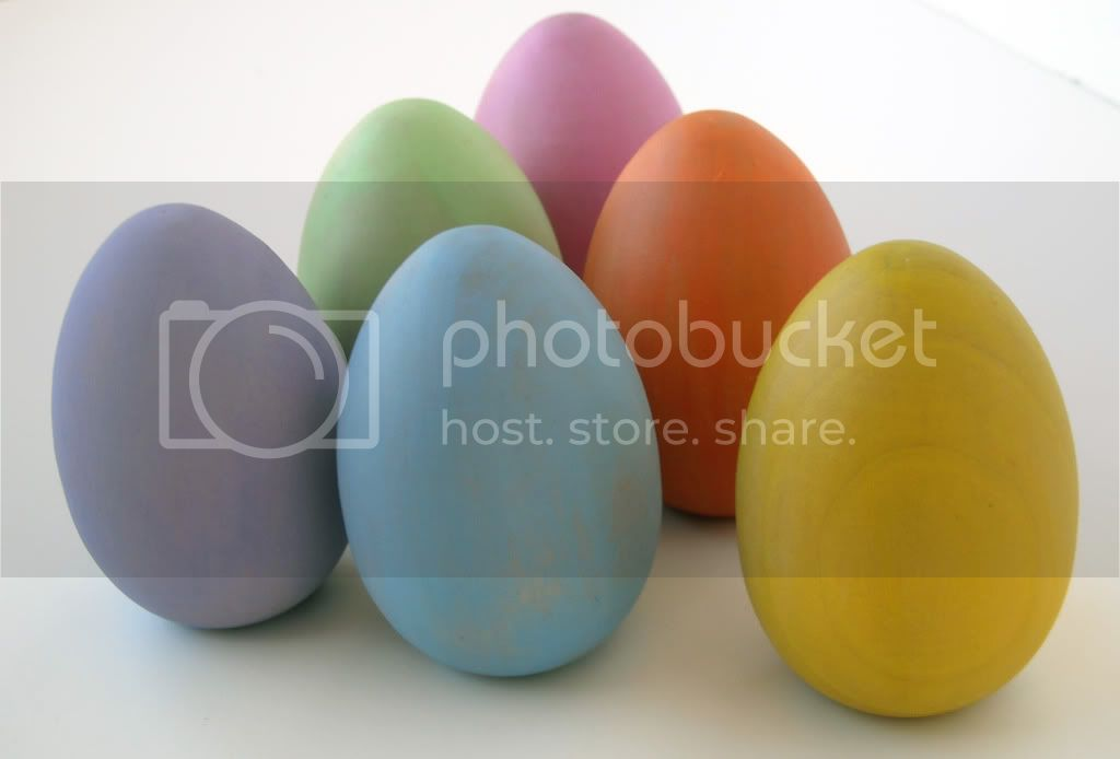 Pastel Wooden Eggs - Set of 6