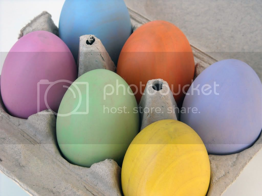 Pastel Rainbow Wooden Eggs - Set of 6