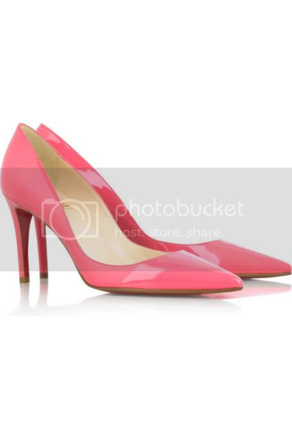 louboutin pink pumps
