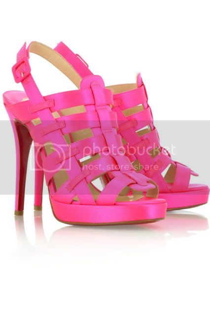 louboutin pink sandals